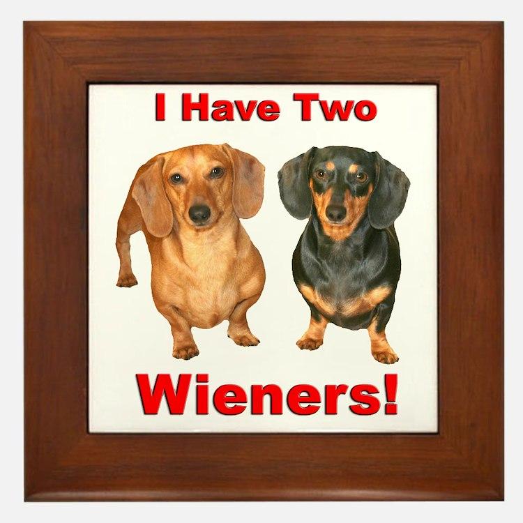 Two Wieners Framed Tile
