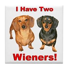 Two Wieners Tile Coaster