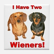 Two Wieners Tile Coaster