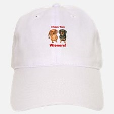 Two Wieners Baseball Baseball Cap