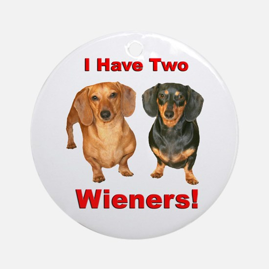 Two Wieners Ornament (Round)