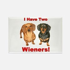 Two Wieners Rectangle Magnet