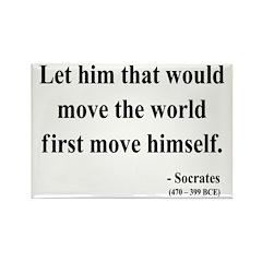Socrates 9 Rectangle Magnet