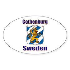 Gothenburg Sweden Oval Decal