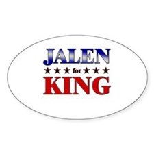 JALEN for king Oval Decal