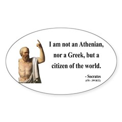 Socrates 10 Oval Decal