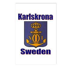 Karslskrona Sweden Gifts, Clo Postcards (Package o