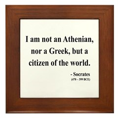 Socrates 10 Framed Tile