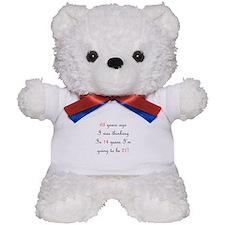 70th birthday math Teddy Bear