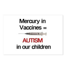 Mercury in Vaccines Postcards (Package of 8)