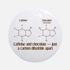 Caffeine & Chocolate Ornament (Round)