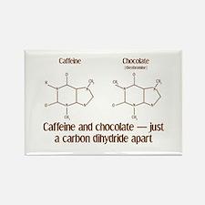 Caffeine & Chocolate Rectangle Magnet