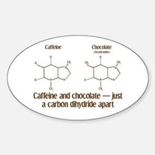 Caffeine & Chocolate Oval Decal
