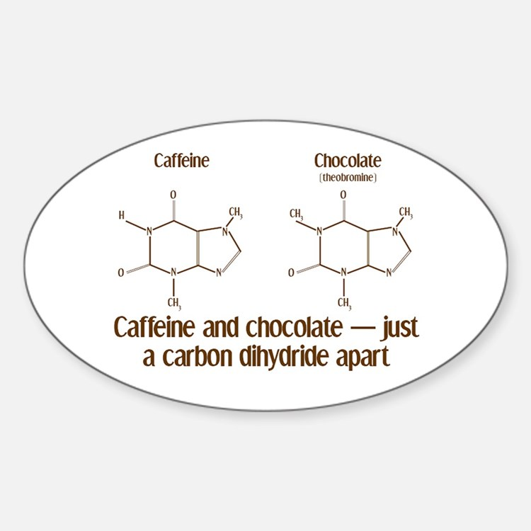 Caffeine & Chocolate Oval Decal