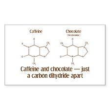 Caffeine & Chocolate Rectangle Decal