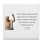 Socrates 12 Tile Coaster