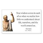 Socrates 12 Rectangle Sticker