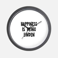 Happiness is being Linden Wall Clock