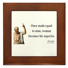 Socrates 13 Framed Tile