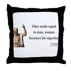 Socrates 13 Throw Pillow