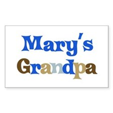 Mary's Grandpa Rectangle Decal
