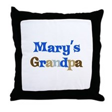 Mary's Grandpa Throw Pillow