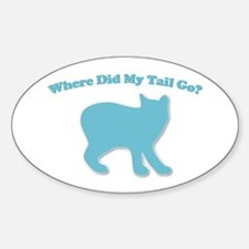 Manx, Tailless Cat Oval Decal