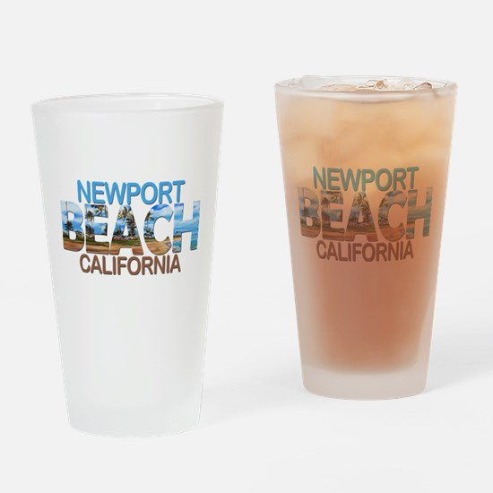 Summer newport- california Drinking Glass