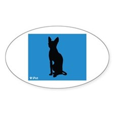Sphynx iPet Oval Decal