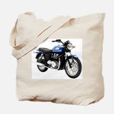 Triumph Bonneville Blue Tote Bag