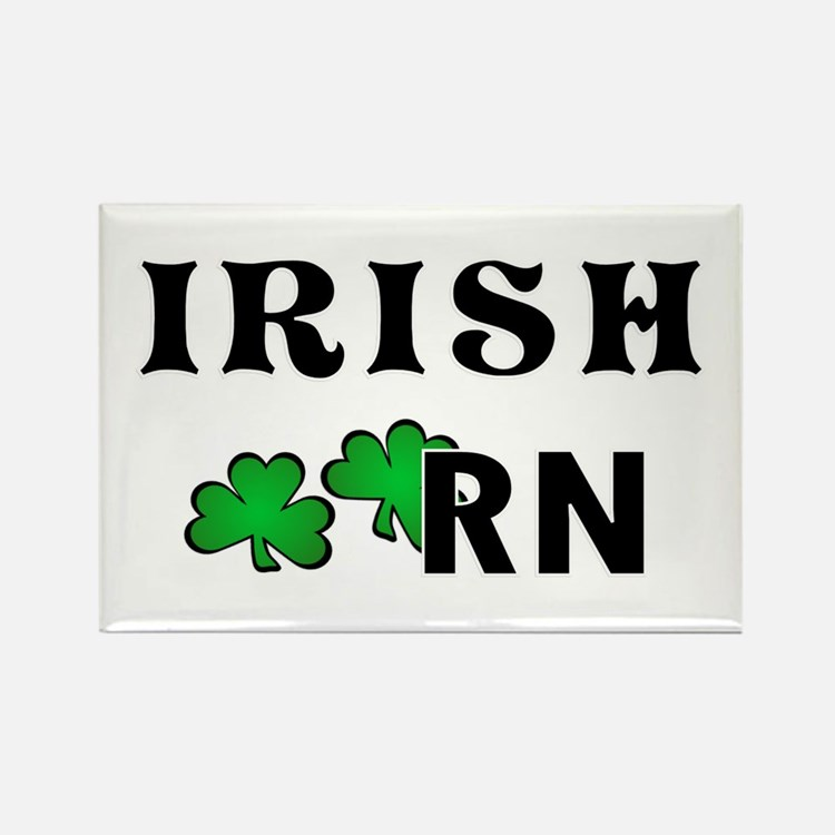 Irish Nurse RN Rectangle Magnet