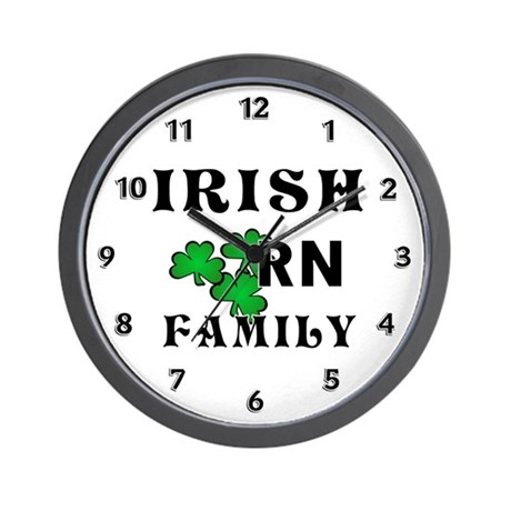 Irish Nurse RN Wall Clock