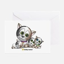 Kitty with Kittens Greeting Cards (Pk of 10)