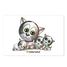 Kitty with Kittens Postcards (Package of 8)