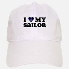 I Love My Sailor Baseball Baseball Cap