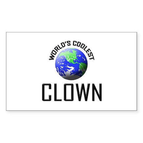 World's Coolest CLOWN Rectangle Sticker