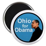 Ohio for Obama blue Magnet