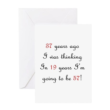 75th birthday math Greeting Card