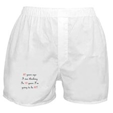 75th birthday math Boxer Shorts