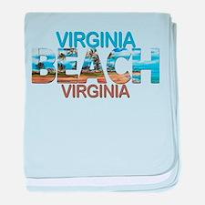 Summer virginia beach- virginia baby blanket