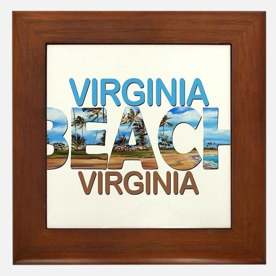 Summer virginia beach- virginia Framed Tile