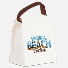 Summer virginia beach- virginia Canvas Lunch Bag