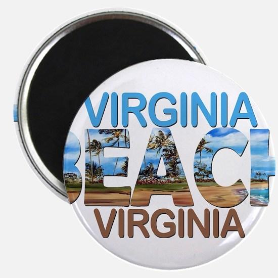 Summer virginia beach- virginia Magnets