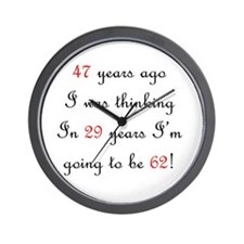 80th birthday math Wall Clock