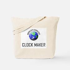 World's Coolest CLOCK MAKER Tote Bag