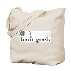 Knit geek knittying tote-y