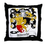 Albrecht Family Crest Throw Pillow