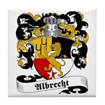 Albrecht Family Crest Tile Coaster