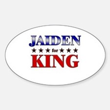 JAIDEN for king Oval Decal
