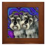 SCHNAUZER DOGS LOVE VALENTINE Framed Tile
